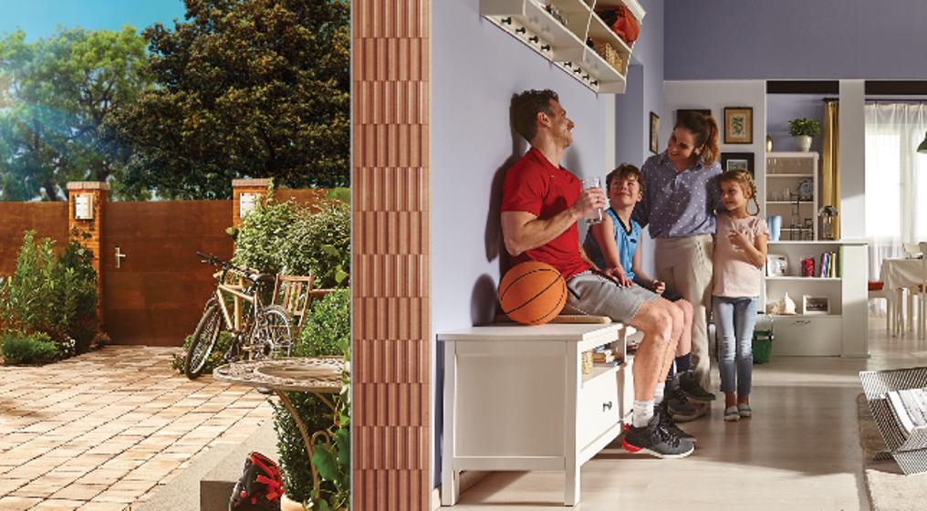 Porotherm energiahatékony tégla: Okostégla - A jó idő otthon marad!