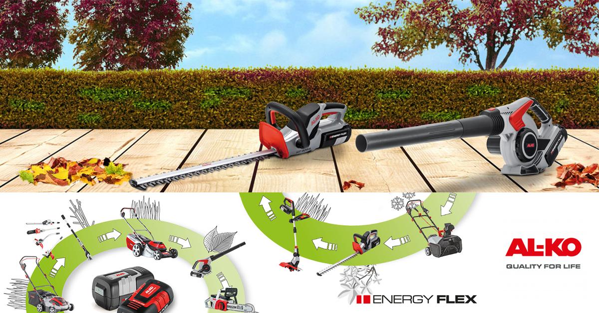 Dinamikus és robosztus: az EnergyFlex család akkumulátoros kerti gépei