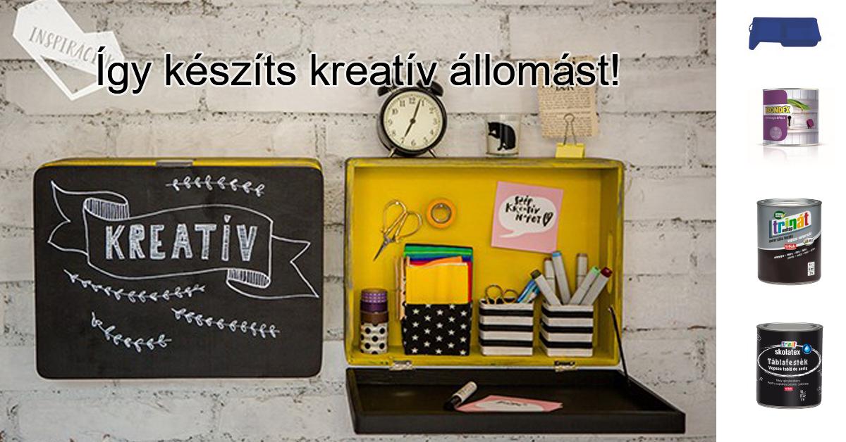 Így készíts kreatív állomást!