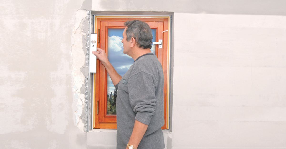 Az ablak körüli falrészek kijavítása