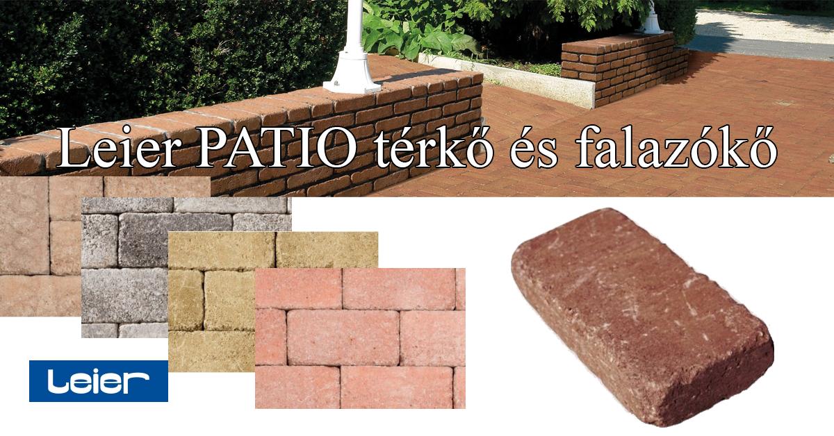 Leier PATIO térkő és falazókő