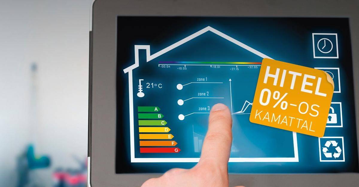 Lakossági energiahatékonysági hitel 0 százalékos kamattal az OTP MFB Pontjain