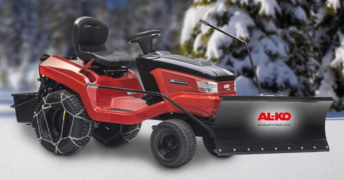 Télen is hasznos - AL-KO Fűnyíró traktoraink télen is használhatóak