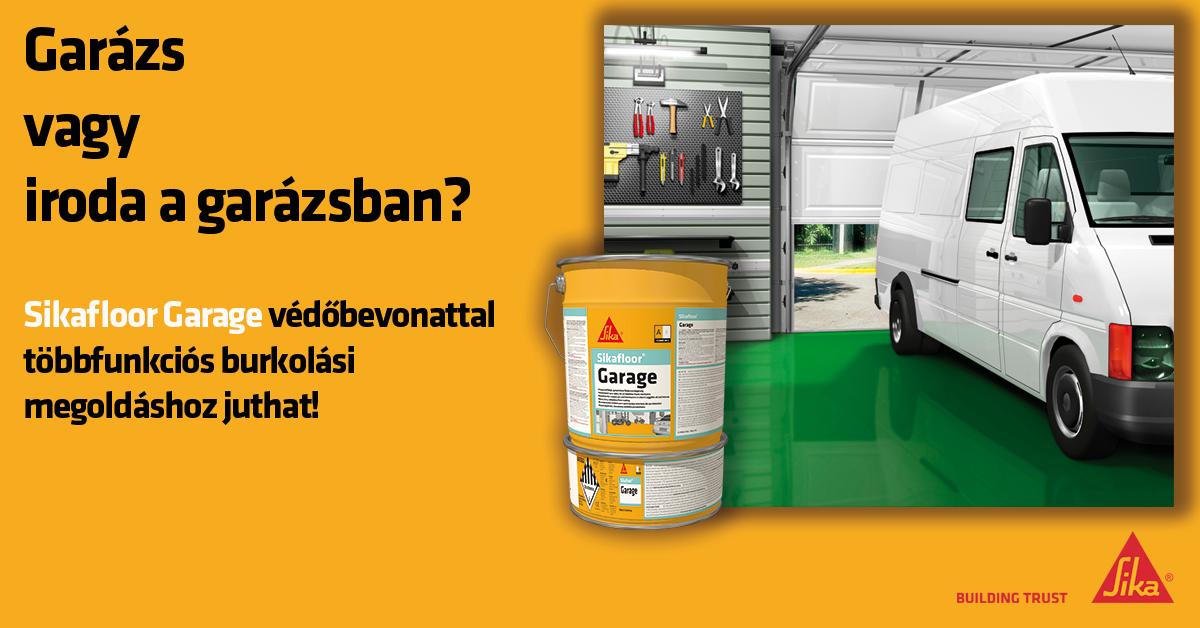 """Garázs, vagy iroda a garázsban? """"Műhelytitkok a SIKA epoxigyanta padlóbevonat rendszerről"""