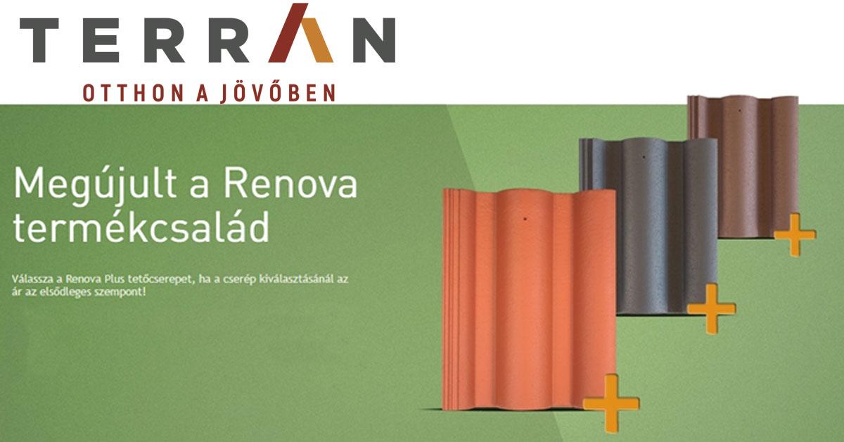 Renova Plus tetőcserepekkel egészült ki a Terrán hullámos profilú termékcsaládja
