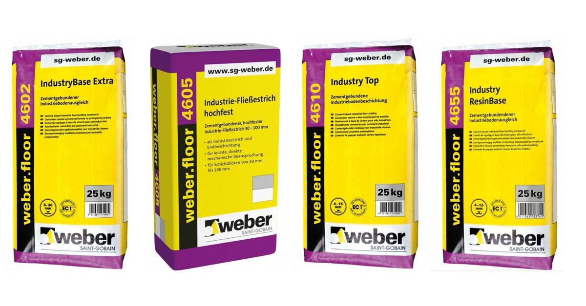 Weber cementes ipari padlóbevonatok