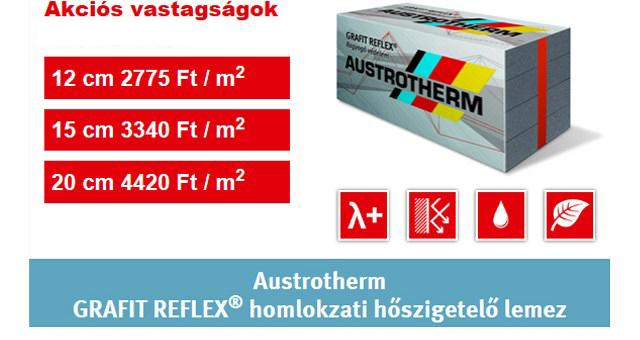 Austrotherm GRAFIT REFLEX homlokzati hőszigetelő lemez AKCIÓ 2020.06.15-ig