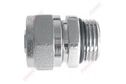 """FERRO Szorítógyűrűs rézcsőcsatlakozó 16 x 1/2"""" O-gyűrűvel"""