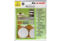 FIX-O-MOLL Bútorcsúsztató filc, 35 mm, öntapadós, fehér 4 db (FIX-O 74-01)