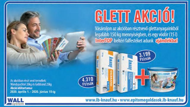 Glett akció ajándék InterTOP beltéri falfestékkel
