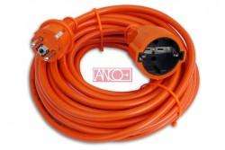 Hosszabbító H05VV-F 3G1,5 mm2  10 m narancs