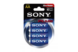 Sony Stamina Plus AA méret, 1,5V - 4 db Eco Pack