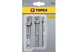 """TOPEX Adapter készlet, 3 részes, 1/4"""" -3/8"""" -1/2"""""""