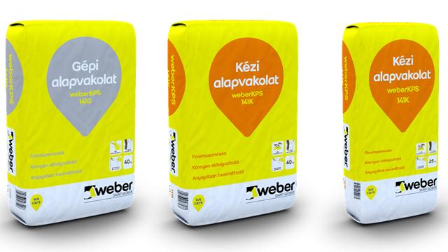 weberKPS 141G és a weberKPS 141K alapvakolat