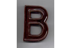 Házszám /betű/, B, 120 mm, barna, Kerámia