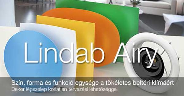 Lindab Airy - Dekor légszelep