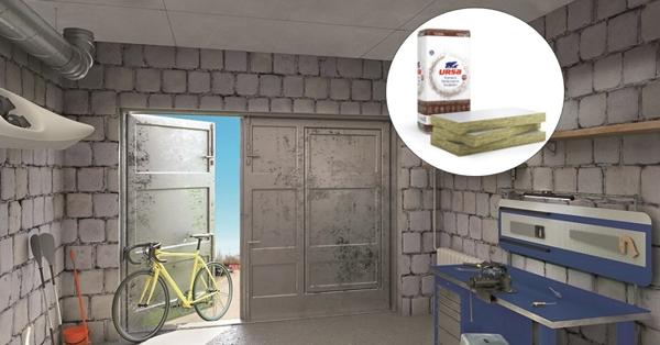 URSA ragasztott födémszigetelés a garázsba, a műhelybe, dübelezés nélkül!