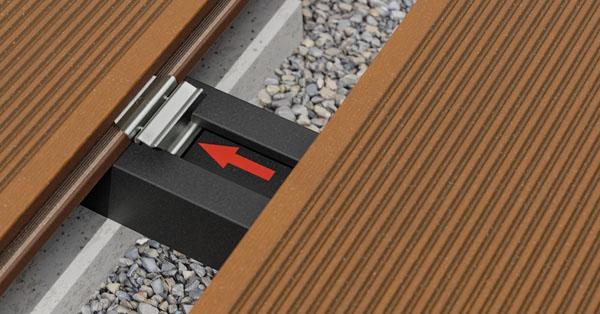 Bergdeck WPC rendszerhez új csavarmentes teraszdeszka rögzítés