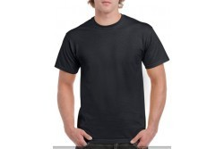 Gildan póló, fekete 100% pamut L