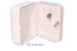 Kulcsszekrény LI. 20x8x16 cm, 20 kulcsos, szürke