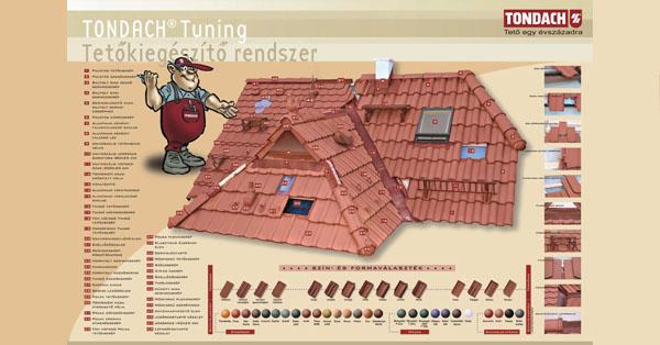Tondach Tuning tetőkiegészítő rendszer