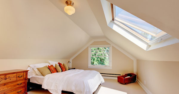 Kis padlásból élhető tetőtér