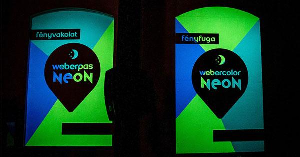 weberpas NEON fedővakolat és webercolor NEON fugázóanyag NEON fényfesték