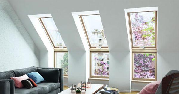 DAKEA térdfal és tetősík ablakok