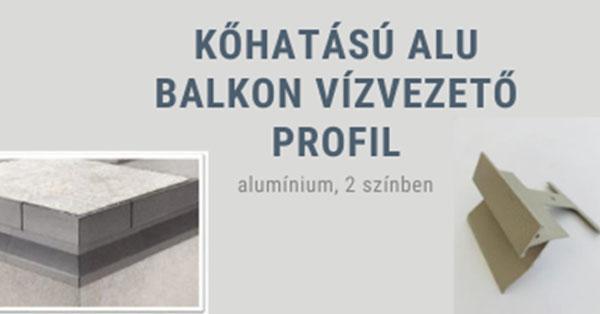 Kőhatású, ALU balkon vízelvezető profil
