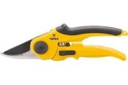 TOPEX metszőolló 220mm műanyag nyéllel - sárga