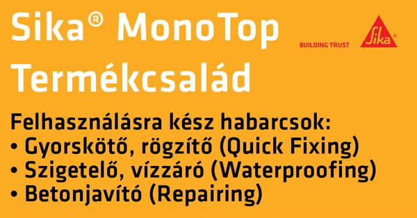 Sika MonoTop® - Betonjavítás a ház körül